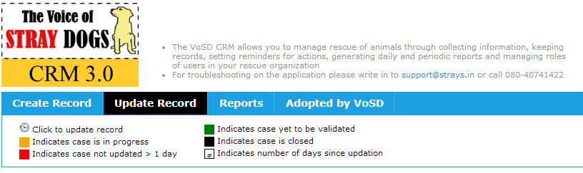 "The worlds first stray dog rescue CRM ""The VoSD CRM v3.0"" would be available for your city as a VoSD Affiliate partner"
